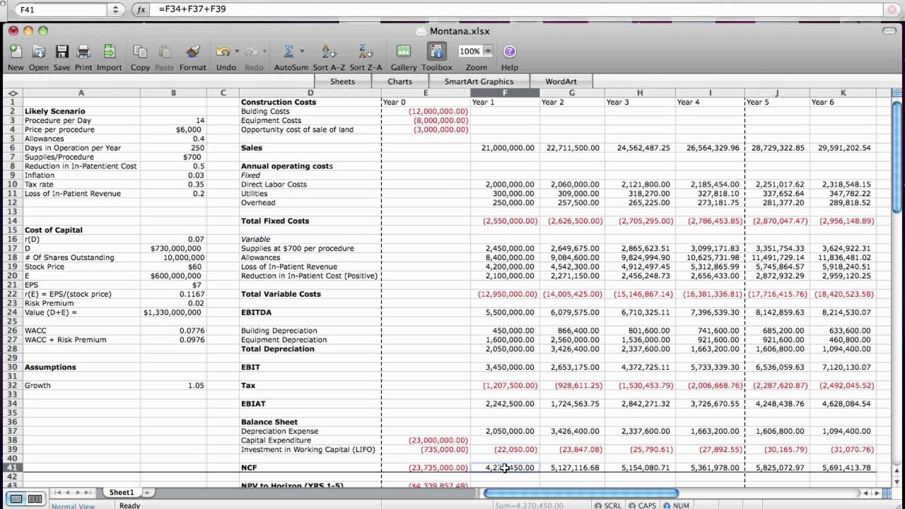 business valuation free cash flow method youtube
