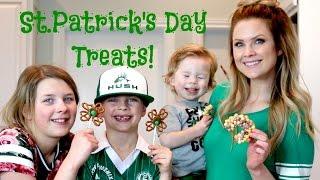 St Patricks Day Treats!! Rainbow Bars&Clover Suckers!!