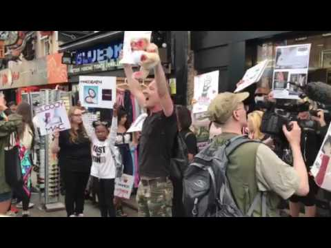 ANIMALS UNDER ATTACK BOYCOTT MAC Camden Town, London 27th May 2017
