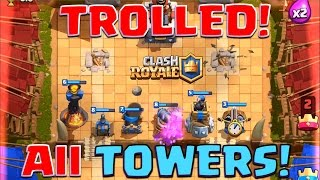 Clash Royale - All Tower TROLLING Challenge! (+$100 Giveaway info!)