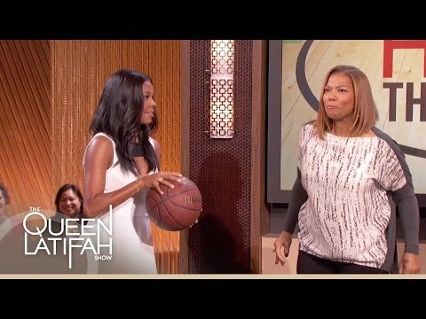 Gabrielle Union Challenges Queen Latifah to a Hoop Game