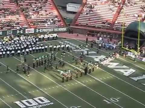 "Hawaii Football ""Hawaii Five-O"" Entrance vs. Fresno State @ Aloha Stadium 2009"