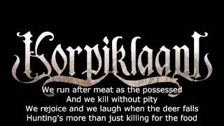 Korpiklaani - Hunting song (Lyrics)