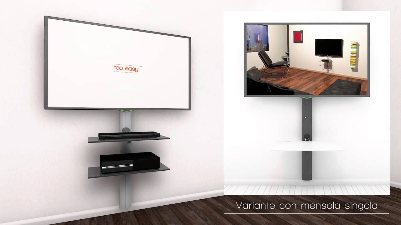Sustenia supporto tv con mensole youtube - Porta televisori a parete ...