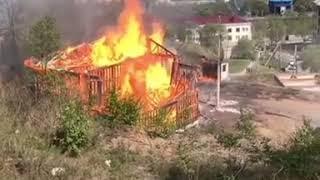 В Находке сгорел строящийся дом