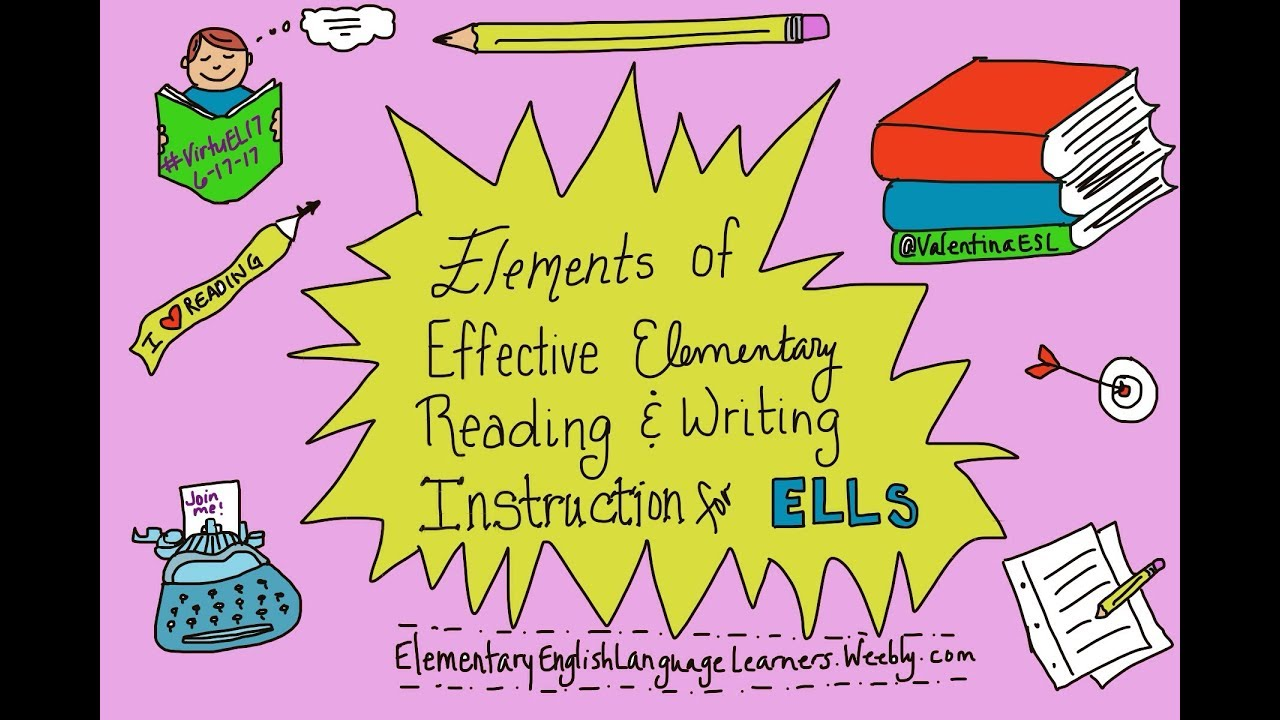 Elements Of Effective Reading And Writing Instruction For Ells Youtube