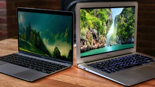 Macbook Air vs 12 inch Macbook 2015 | Should I buy the MacBook or MacBook air? | TechGenie(We thought that an interesting comparison would be the macbook 2015 and the macbook air. As it turns out they are almost identical in performance, and, if you ..., 2016-09-24T17:00:05.000Z)