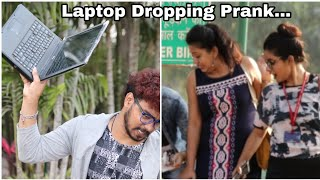 Expensive LAPTOP Dropping Prank| He@rt-Att@ck wala Reactions| Prank In India !FUNKY TV!