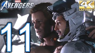 Marvel's AVENGERS PC 4K Walkthrough - Part 11 - The Chimera, Rockets' Red Glare