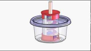 Archimedes' Screw Candy Dispenser Animation