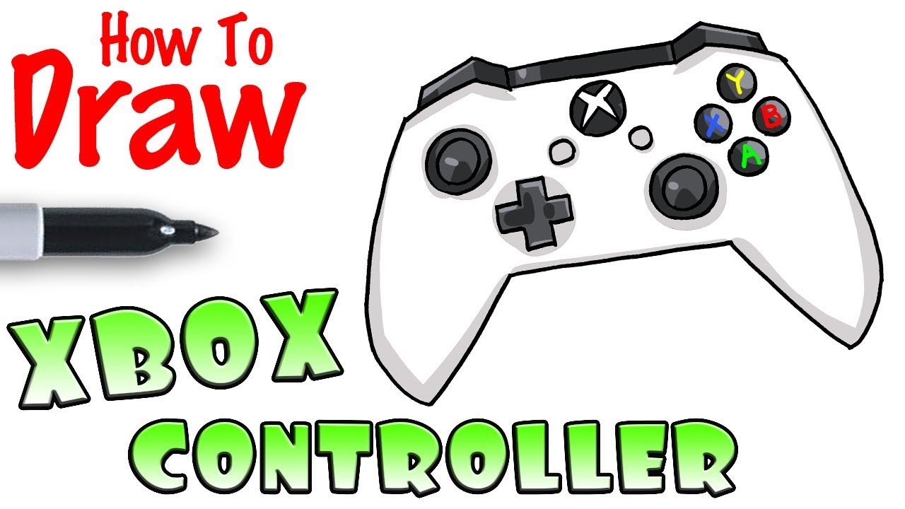 How To Draw Xbox Controller Youtube