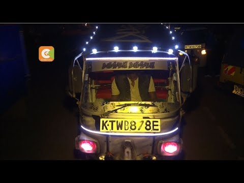 Pimped tuk-tuk take Thika town by storm