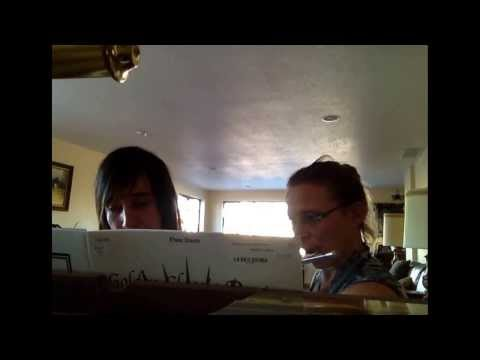 Simple Gifts flute duet