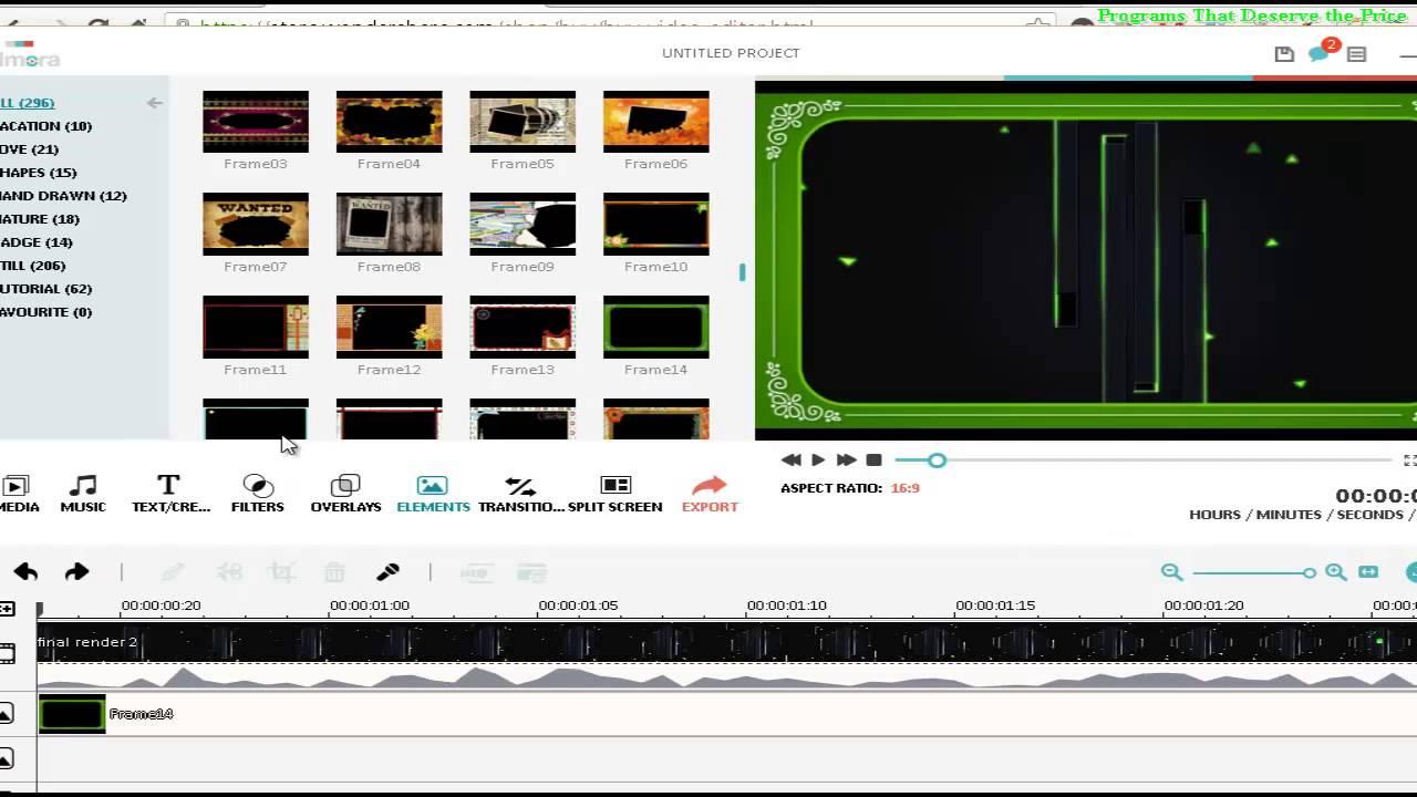 Filmora Tutorial #06 add Frame on Videos: How to add a Border on ...