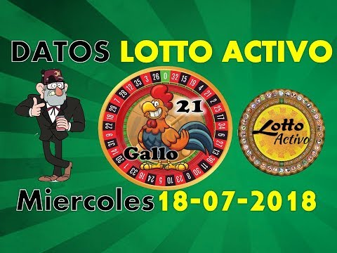 Lotto Activo Datos Fijos 18/07/2018 | Tio Ruletero