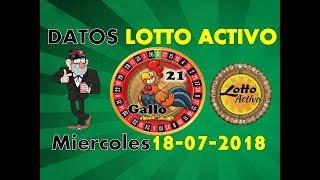 Lotto Activo Datos Fijos 18/07/2018   Tio Ruletero