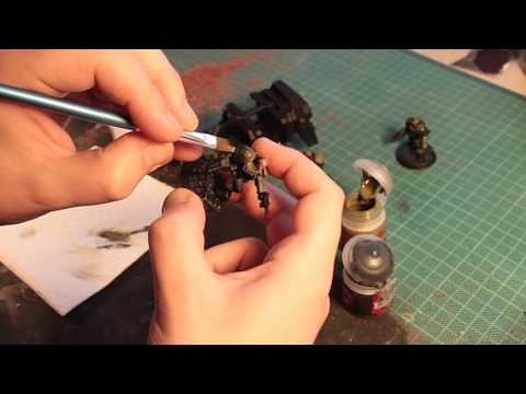 Flat Brush Wet Blending - 40k marine