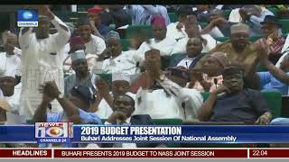 2019 Budget: Buhari Presents Appropriation Bill To NASS Lawmakers