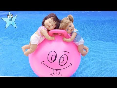 Ani y Ona SUPER DIVERSIN en la piscina y en la playa