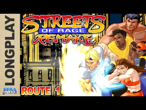 Streets of Rage Remake (Route 1) [PC Longplay] - SEGA Kidd