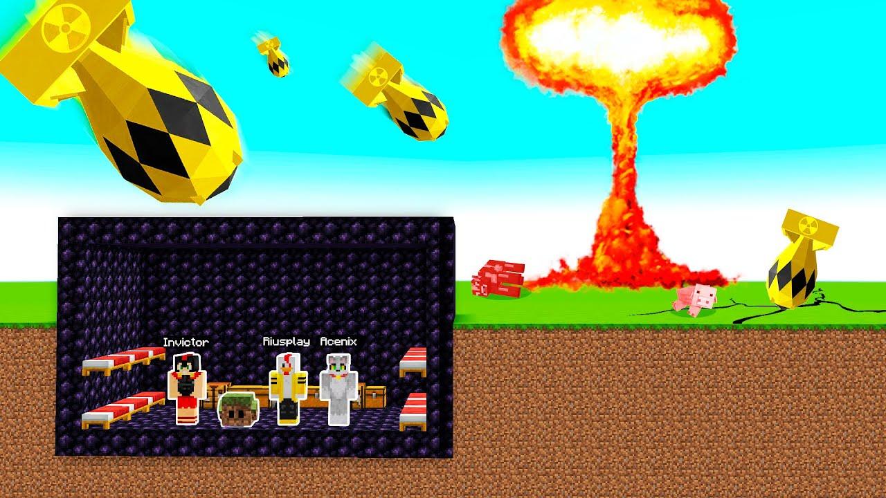 ¡BOMBA NUCLEAR VS BASE DE OBSIDIANA! ☢️😱 ¿SOBREVIVIREMOS A LA EXPLOSIÓN MÁS GRANDE DE MINECRAFT?