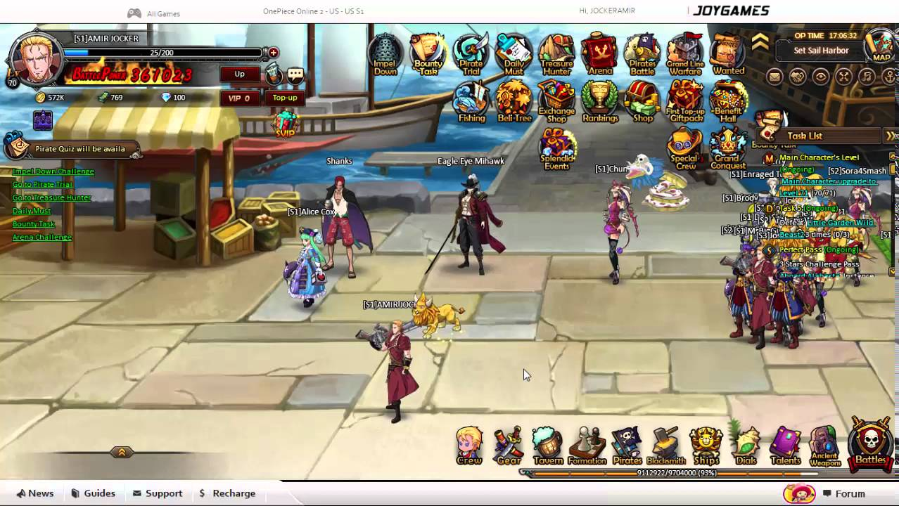 f0c6ba6d9ed one piece online 2 pirate king sniper lvl 70 - YouTube