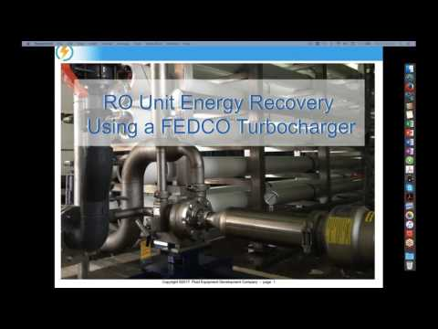 RO Unit Energy Recovery Using a FEDCO Turbocharger