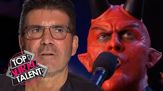 DEVIL SINGER SHOCKS SIMON COWELL with his ANGELIC VOICE!