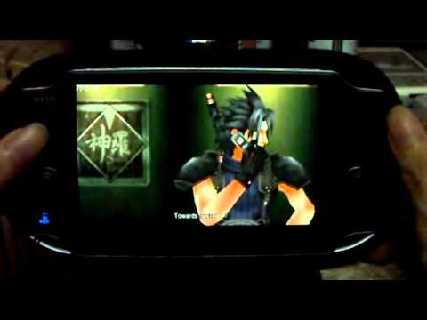 Playing Final Fantasy VII Crisis Core (PSP) on PS VITA part 1 - YouTube