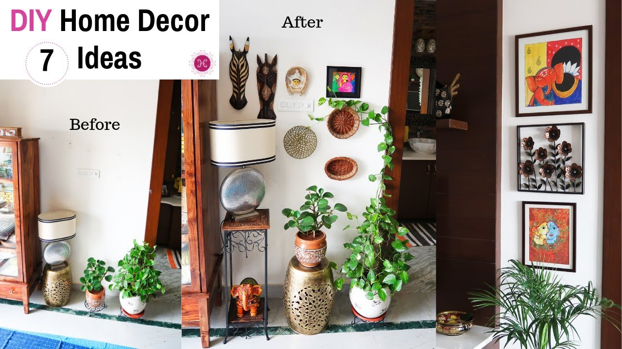 EASY Budget Friendly DIY Home Decorating Ideas Indian ...