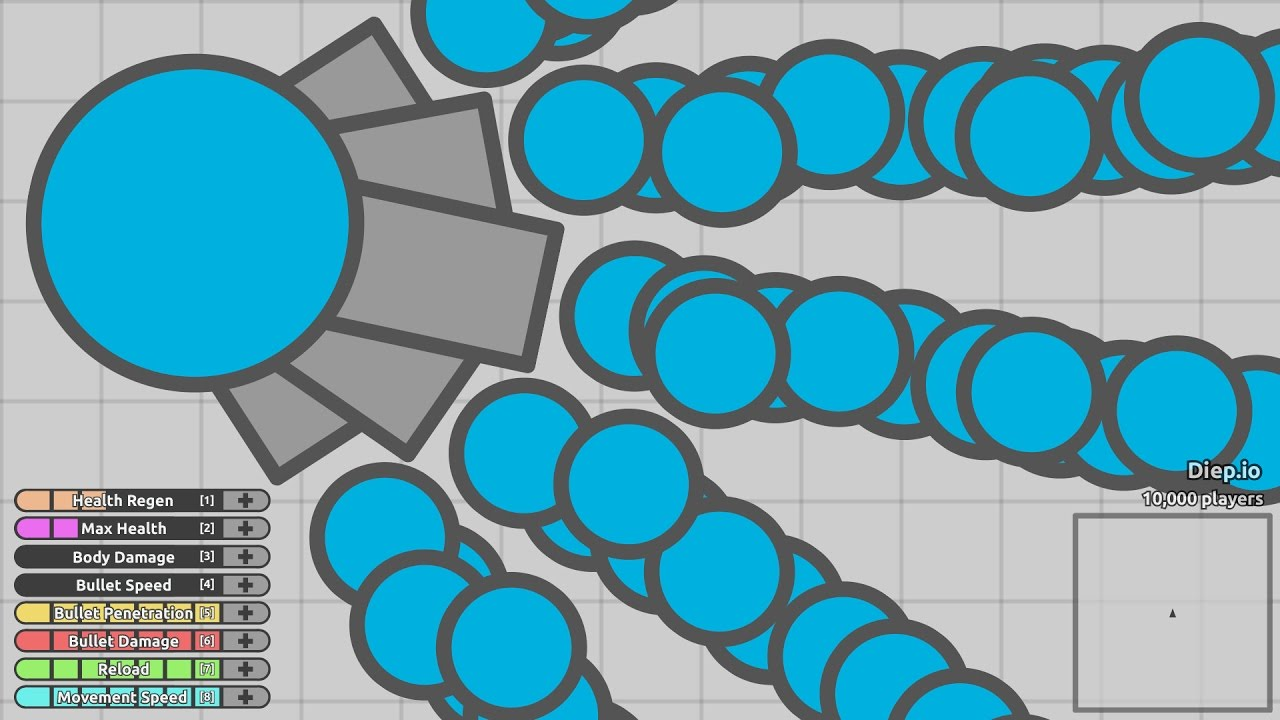 how to make a wave of bullets in diep.io