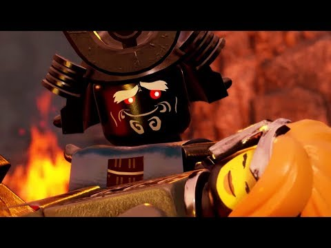 LEGO NINJAGO Movie Video Game - Lady Iron Dragon and Garmadon Romance Scenes