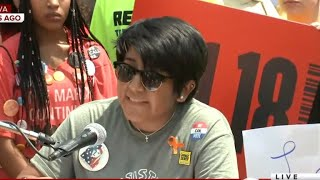 Download Video Gun reform activists march on NRA headquarters in Virginia MP3 3GP MP4