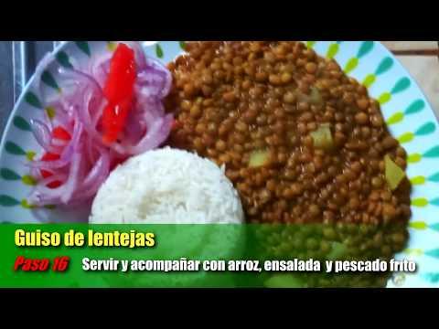GUISO DE LENTEJAS - RECETA DE CASA