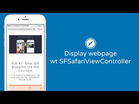 Display Webpage With SFSafariViewController In IOS With Swift - Code Hangout 26