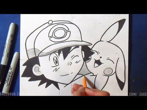 Comment Dessiner Sacha Et Pikachu Pokémon