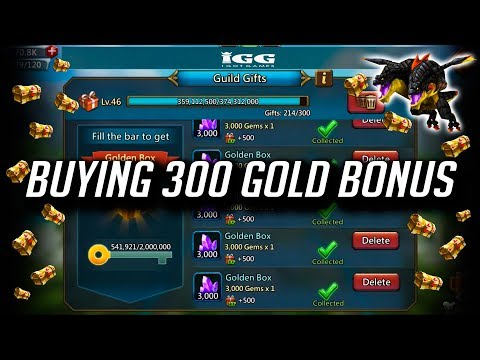 Buying 300+ Gold Bonus (New Familiar) In SGE - Lords Mobile