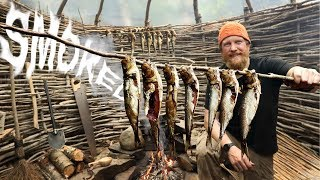 How To Cold Smoke Fish, Alewife / River Herring  Day 4 of 8 Maine W.L.C. / Catch And Cook Survival