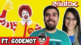 ESCAPE DO MC'DONALDS - Roblox Ft. Godenot