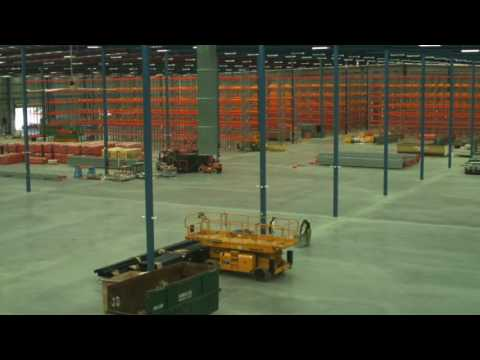 Sydney Warehouse Pallet Racking Installation Timelapse