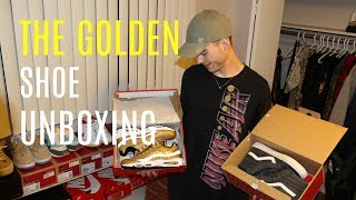 METALLIC GOLD AIR MAX 95 UNBOXING & REVIEW