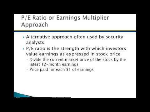 Common Stock Valuation Chapter 10