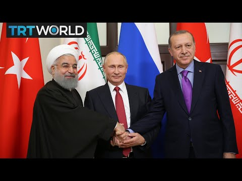 Leaders of Turkey, Iran and Russia address press conference in Sochi