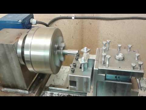 Diy cnc metal lathe test cutting.