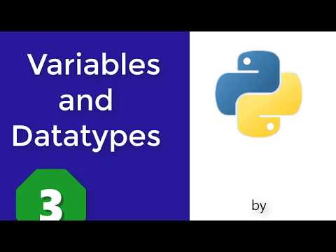 Python programming language For beginners: 3- Variables and datatypes