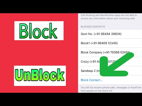 How to Block and Unblock Phone numbers on iPhone in IOS 11|iPhone Feautres|