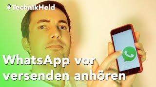 Geniale neue WhatsApp Sprachnachrichten Funktion - App Tipp Deutsch