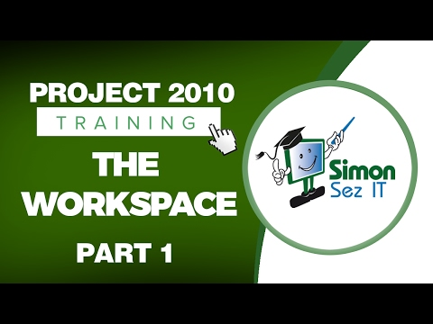 Microsoft Project 2010 Video Training Tutorial - The Workspace -- Part 1 - 동영상