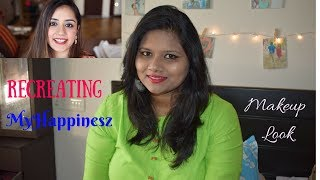 Recreating MyHappinesz Makeup Look | 2min makeup wid only 5products | TheHapinessCocktail