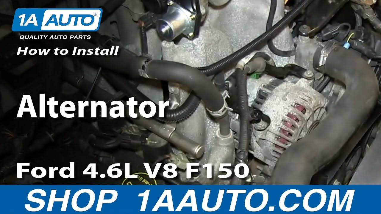 How To Install Replace Alternator 200408 Ford 46L V8 F150  YouTube